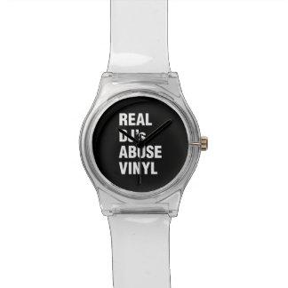REAL DJ's ABUSE VINYL Wrist Watch