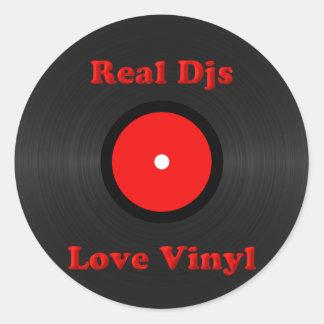 Real Djs Love Vinyl Stickers
