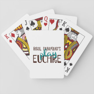 Real Dubuquers Play Euchre Poker Deck