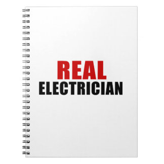 REAL ELECTRICIAN SPIRAL NOTEBOOKS