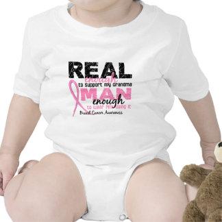 Real Enough Man Enough Grandma 2 Breast Cancer T Shirts