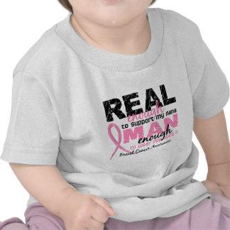 Real Enough Man Enough Nana 2 Breast Cancer Tee Shirts