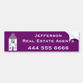 Real Estate Agent Advertising Bumper Sticker