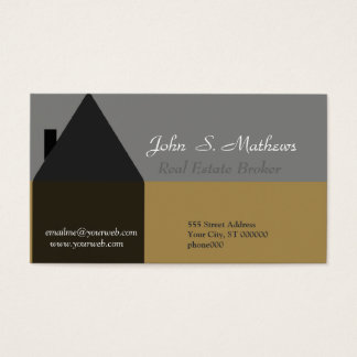 Real Estate Agent and Real Estate Professional Bla Business Card