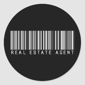 Real Estate Agent Bar Code Classic Round Sticker