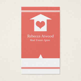 Real Estate Agent Business Cards Coral