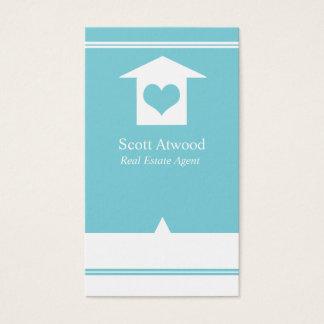 Real Estate Agent Business Cards Light Blue