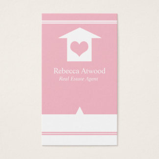 Real Estate Agent Business Cards Pink