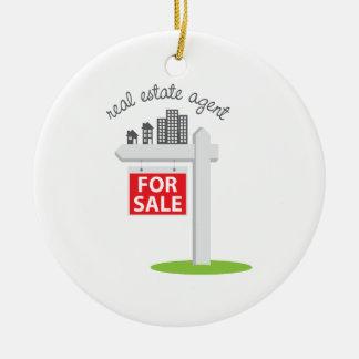 Real Estate Agent Ceramic Ornament