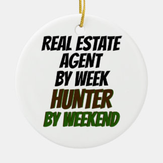 Real Estate Agent Hunter Ceramic Ornament