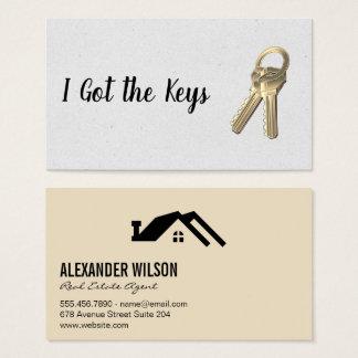 Real Estate Agent / Keys Business Card