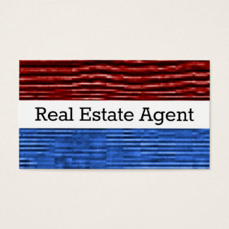 Real Estate Agent Patriotic Business Card