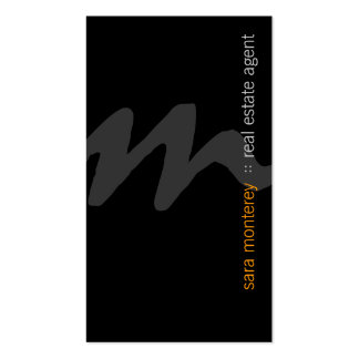 Real Estate Agent PropertyInvestment Bold Monogram Pack Of Standard Business Cards