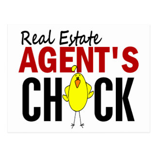 REAL ESTATE AGENT'S CHICK POSTCARD