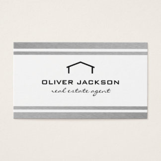 Real Estate Agent SilverTrim Business Card
