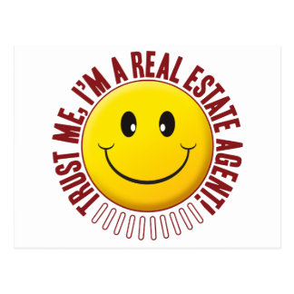 Real Estate Agent Trust Smiley Postcard