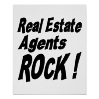 Real Estate Agents Rock! Poster Print
