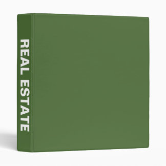 Real Estate Big Bold Name binder