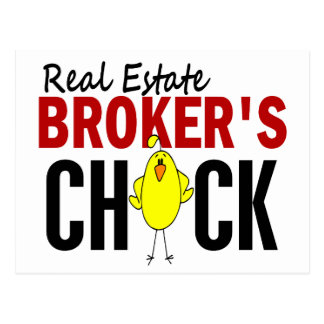 REAL ESTATE BROKER'S CHICK POST CARD