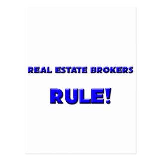 Real Estate Brokers Rule! Postcards