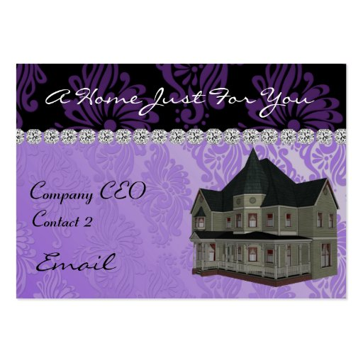REAL ESTATE  Business Card Damask DESIGN & BLING