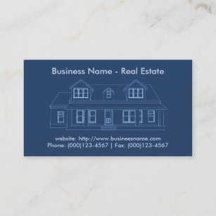 Blueprints business cards profile cards zazzle ca real estate business card house blueprint business card malvernweather