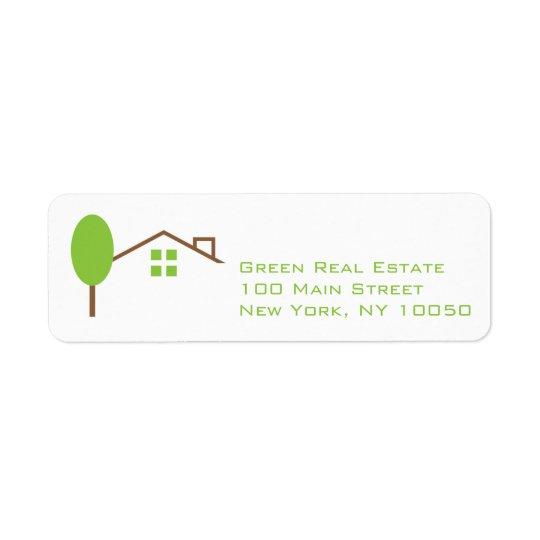Real Estate Business Return Address Label