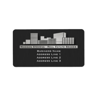 Real Estate City Logo Address Labels