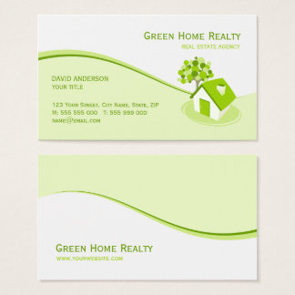Real Estate Environment Sustainable business card