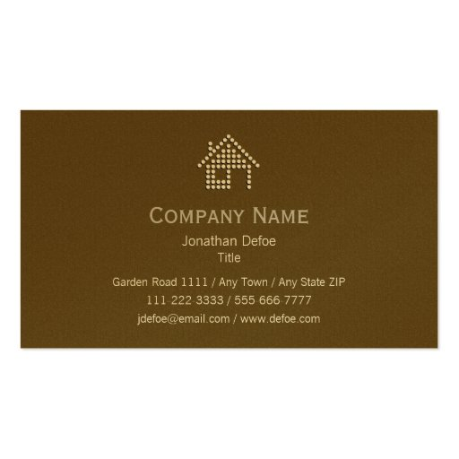 Real Estate Gold Business Card