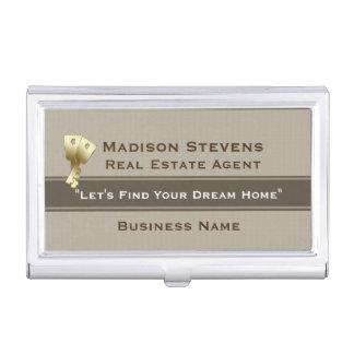 Real Estate Gold Keys Business Card Holder