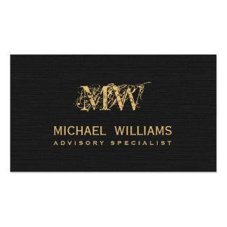 Real estate gold salesman - Black rough paper Business Card