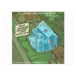Real Estate Home Sales Nightmare Funny Postcard