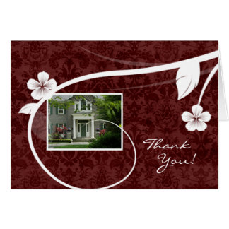 Real Estate Home Thank You Greeting Card Red