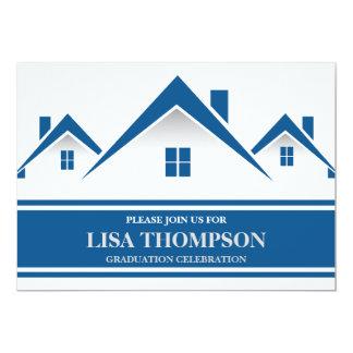 Real Estate House Graduation Invitation Card