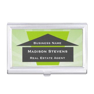 Real Estate House Logo Business Card Holder