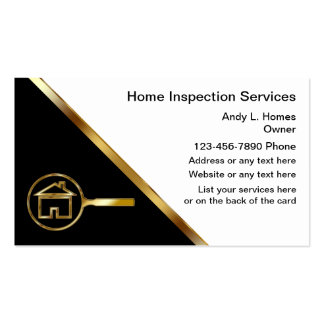 Real Estate Inspector Business Cards