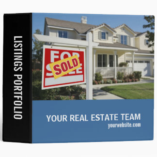 Real Estate Listings Portfolio Vinyl Binder