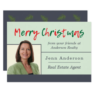 Real Estate Merry Christmas Personal Greeting Card