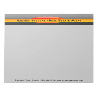 Real Estate Orange Circle Notepad