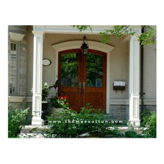 Real Estate Postcards Home Entrance House