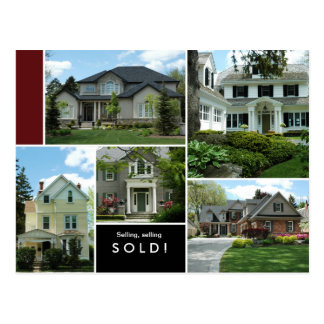 Real Estate Postcards Many Homes / Houses