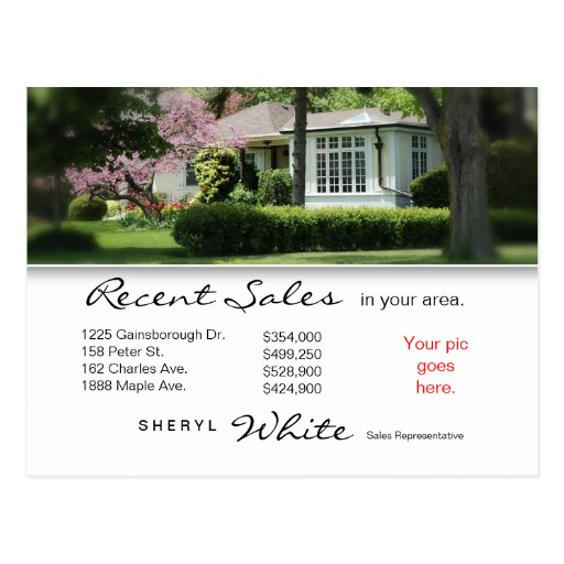 Real Estate Postcards Recent Sales Yellow House
