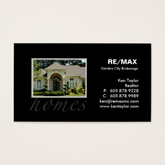 Real Estate Pretty Yellow House Business Card