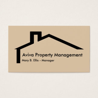 Real Estate Property Management Business Card