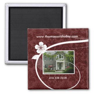 Real Estate / Realtor Custom Fridge Magnet Red