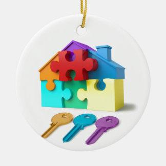 Real Estate, Realtor, estate agent, New Home Ceramic Ornament