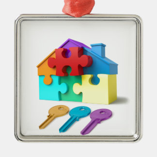 Real Estate, Realtor, estate agent, New Home Metal Ornament