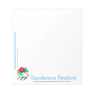 Real Estate, Realtor, estate agent, New Home Notepad