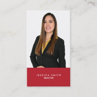 Real Estate red bar business card